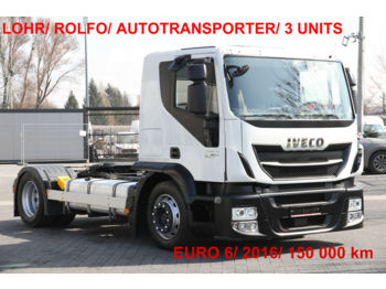 IVECO STRALIS 420 E6 CT LSNRA LOHR AUTOTRANSPORTER ROLFO - tractor unit