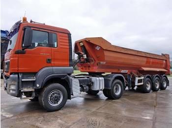 Tractor unit MAN TGS 18.440 + Tipper trailer 6 Units