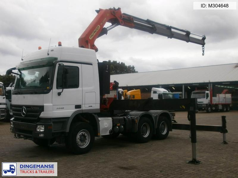 Mercedes Actros 3348 6x4 Palfinger Pk 54000c Tractor Unit From