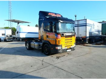 SCANIA R 124 400 left hand drive 3+3 manual Euro 2 - tractor unit