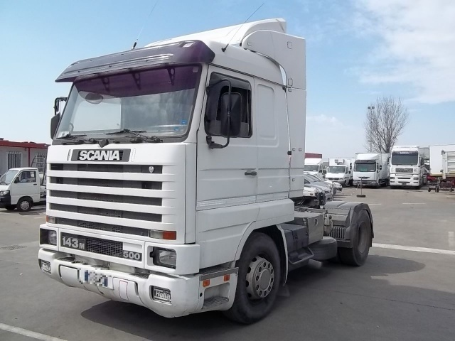 scania cv r 143 4x2 500 tractor unit from italy for sale at truck1  id  1020460