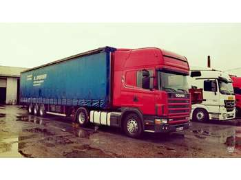 Scania R124LA, double sleeper  - شاحنة جرار