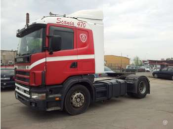 Scania R124LA, single sleeper  - شاحنة جرار