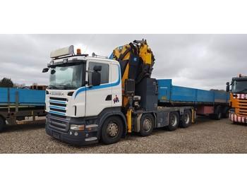 Scania R420 8x4 Effer kran 55S6 + jib 4S + winch + radio - شاحنة جرار