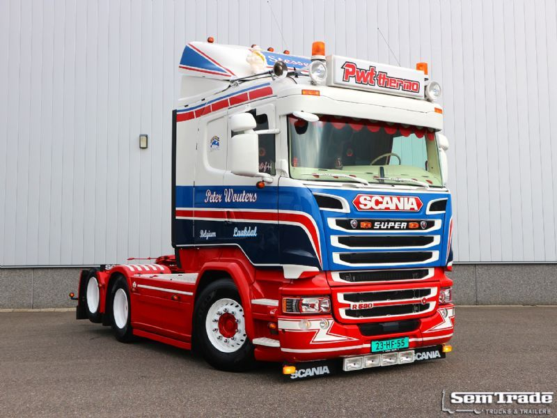 Préférence Scania R580 V8 EURO 6 6X2 SPECIAL SHOWTRUCK LIKE NEW SUPER  QT19