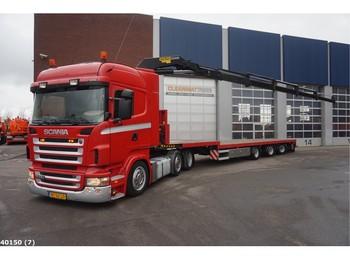 Tractor unit Scania R 420 6x2 Retarder Kiphydraulic + Vogelzang 3-assige oplegger