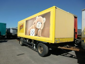 Closed box trailer Baranyai Anhängewagen Kofferaufbau mit Hebebühne Fahrschulfahrzeug