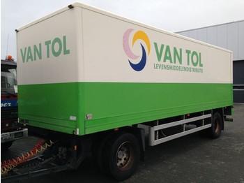 Closed box trailer GS Meppel Kast met laadklep