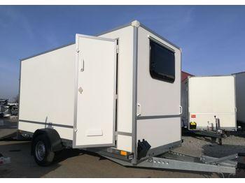 Niewiadów Furgon F1336HD z trapem, drzwiami bocznymi i oknem z przodu - closed box trailer
