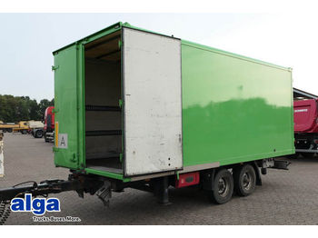 Closed box trailer Spier TGL 255, Tandemkoffer, Durchlade, 6.100mm lang