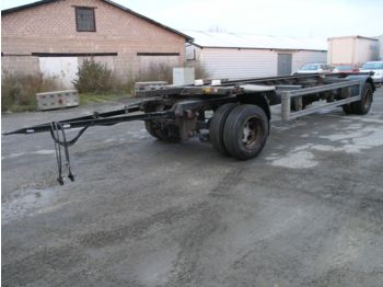 Container transporter/ swap body trailer Ackermann EAF18-7,4 Wechselfahrgestell Zwillingsber. LOW