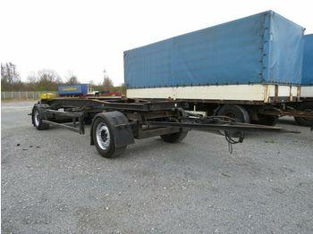 Hüffermann 2-achs Abrollanhänger HSA 18.70 Containeranhänge  - container transporter/ swap body trailer