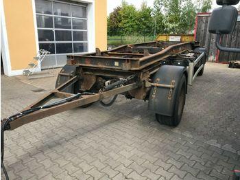 Container transporter/ swap body trailer Hüffermann HSA 1870L Schlitten luftgefedert 4-fach verriege