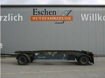 Container transporter/ swap body trailer Hüffermann HSA 18.70, Schlitten, Luft, BPW