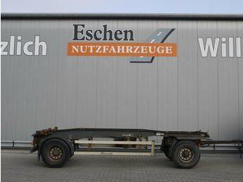 Container transporter/ swap body trailer Hüffermann Schlitten, Luft, BPW