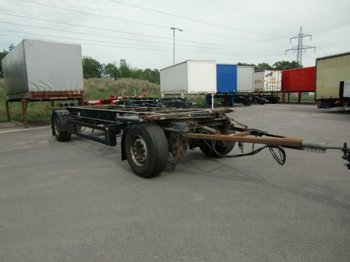 Container transporter/ swap body trailer Krone AZW 18 Lafette