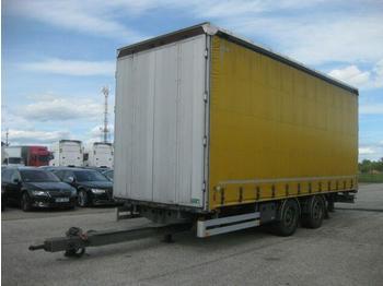 Curtainsider trailer  / - G.T.S. PTT 18 Tandem Durchfahrt