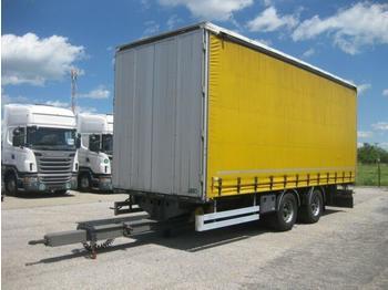 Curtainsider trailer  / - G.T.S. PTT 18 Tandem Pritsche + Plane