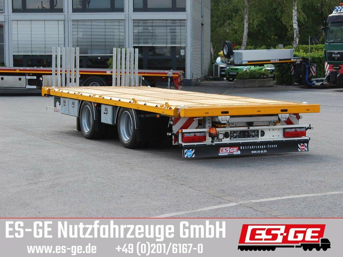 flatbed trailer ES-GE Tandemanhänger - Containerverr.