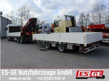 Flatbed trailer Tandemanhänger - Bordwände - Heckausschub