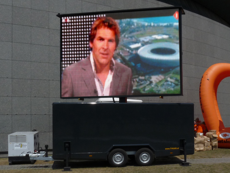 Jans Mobile LED screen 16m² trailer from Netherlands for