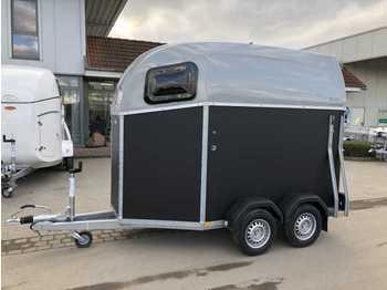 BOECKMANN Duo Esprit silver + black ALB Pferdeanhänger - مقطورة نقل المواشي