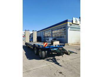 Low loader trailer Goldhofer TU4 32/80 4-Achs Tieflader TÜV NEU! Hydr.Rampen
