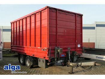 Low loader trailer Humbaur HTK, Aufsätze, 5,0mte lang.,Blattfederung,Kipper