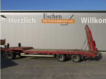 Low loader trailer Langendorf TUE 24/100-3, hydr. Rampen, Blatt, BPW