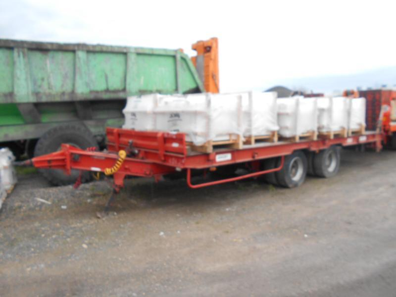 low loader trailer Louault