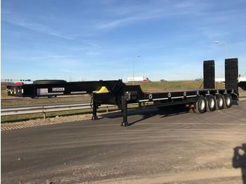 Low loader trailer OZGUL LW4 80 Ton, 3 m, steel susp., hydr. ramps