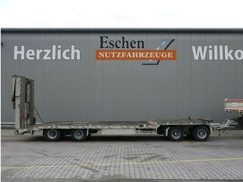 Low loader trailer Schütte 4 Achs Drehschemel, Faltrampen