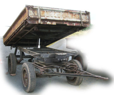ifa ddr traktor anh nger 3 s kipper druckluft tipper. Black Bedroom Furniture Sets. Home Design Ideas