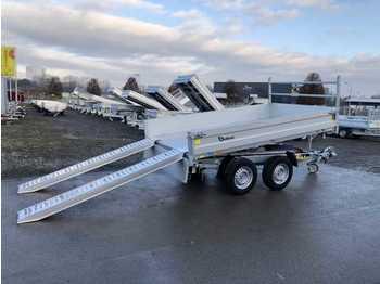 Tipper trailer CHEVAL LIBERTE PW3.0E Rampen, Stützen Dreiseitenkipper
