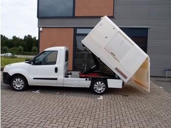Fiat Doblò Cargo 1.4-16V Maxi kipper cng aardgas 35.000km vuil-kipper veegvuil btw vrij euro6 camping airco ecotrommel ngt gas lpg - Kipper Transporter
