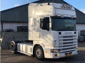 Scania R124 -420 - MANUAL - OPEN PIPE - NL SHOW TOP TRUCK - trekker