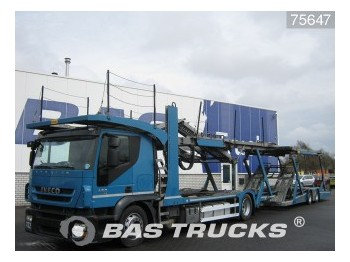 Autotransporter truck Iveco Stralis AT190S45 Manual+Intarder Euro 5 Silver-C: picture 1