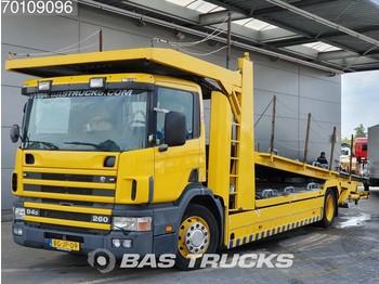 Autotransporter truck Scania P94 260 4X2 Manual Euro 2 Groenewold Aufbau -  Truck1 ID: 3776790