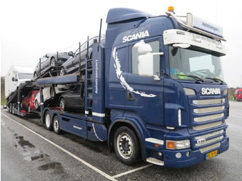 Autotransporter truck Scania R480 Highline 6x2 KTT Metago/Metago 10-cars