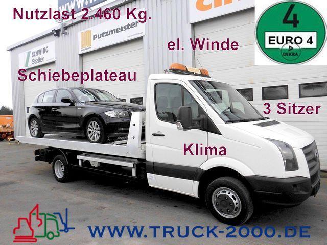 autotransporter truck vw crafter 50 2 5 tdi schiebeplateau e winde 1 hand truck1 id 1581233