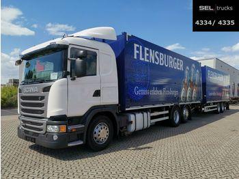 Beverage truck Scania G410 / Retarder / Lenkachse / with trailer