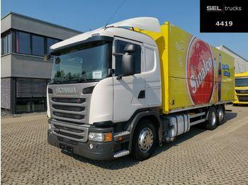 Beverage truck Scania G 410 / Retarder / Lenkachse / Ladebordwand