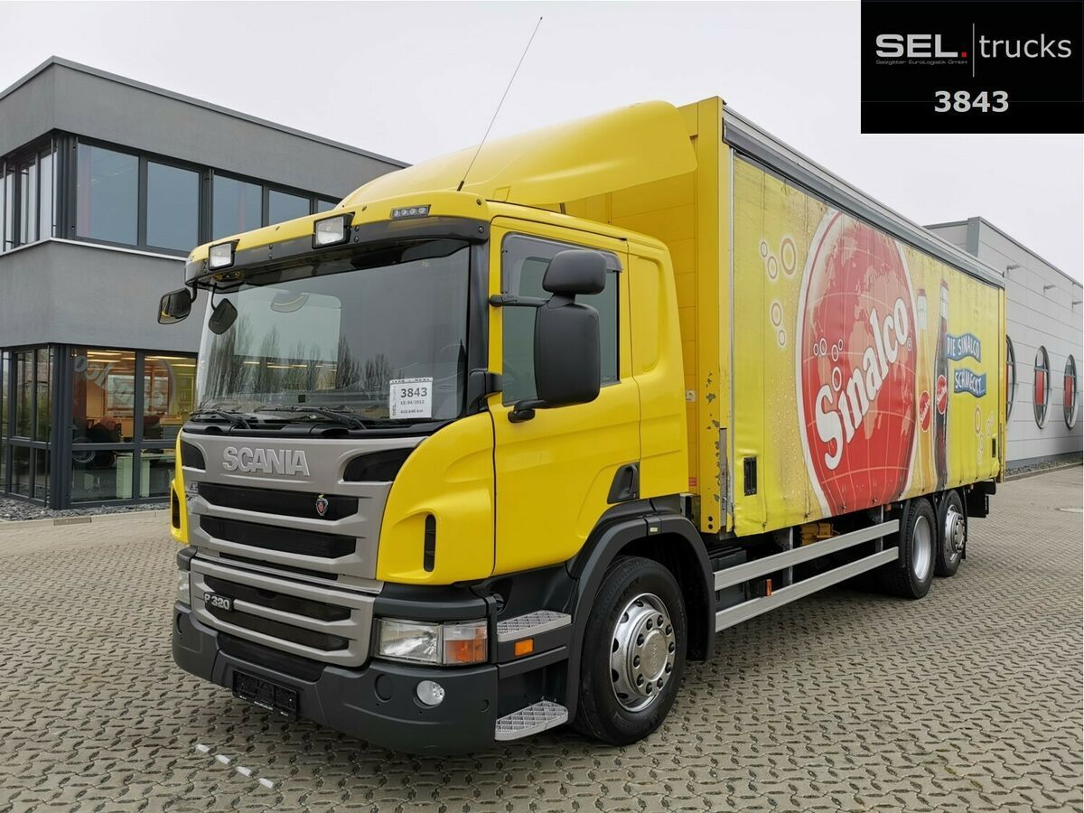 beverage truck Scania P 320 DB6x2*4MLB / Ladebordwand / Lenkachse