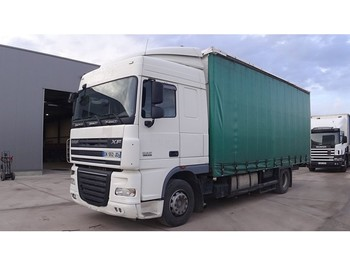 Box truck DAF 105 XF 410 Space (MANUAL GEARBOX / FRENCH TRUCK IN GOOD CONDITION)