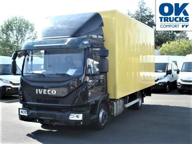 box truck IVECO Eurocargo 75E16 Eurotronik, 5m-Koffer, H 2,48m