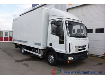 Box truck Iveco EuroCargo 75E18 EEV Koffer Seitentür LBW 1.5 to