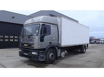 Box truck Iveco Eurotech 190 E 27 (MANUAL PUMP / FULL STEEL SUSPENSION / FRENCH TRUCK IN GOOD CONDITION)