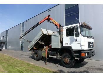 MAN 13.232 4X4 MANUAL FULL STEEL HUBREDUCTION PALFIN  - box truck