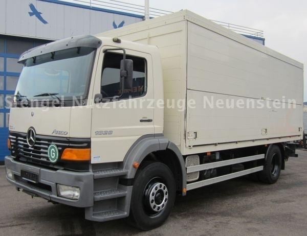 MERCEDES-BENZ 1828 L Atego, Getränke/Schwenkwandkoffer box truck ...