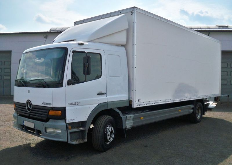 Mercedes benz atego 1223 box truck from poland for sale at for Mercedes benz trucks price list